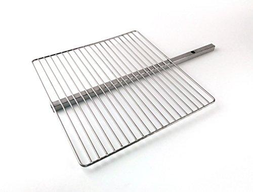 Keilbach Design Produits Grillrost pour Aura, Fluxus, de Light My Fire, Sun et Moon Accessoires pour feu postes, Acier Inoxydable, Dimensions 42 × 40 × 1,5 cm