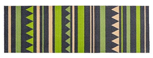 Küchenläufer / Küchenmatte / Dekoläufer für Küche und Bar / Teppich / Läüfer / Läufer / waschbare Küchenläufer / Küchendeko Modell grün - grau - Größe ca. 50 x 150 cm