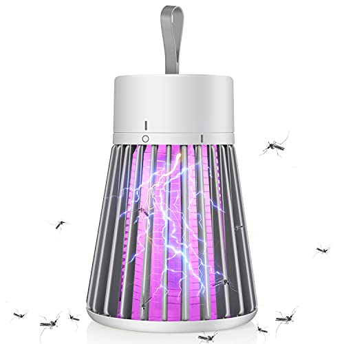 Bug Zapper Mosquito Zapper & Fly Zapper Portable Indoor Bug Zapper Camping Bug Zapper Fly Trap Electronic Fly Zapper Indoor Super-Fast Electric Trap Ideal for Fly Traps Indoors…