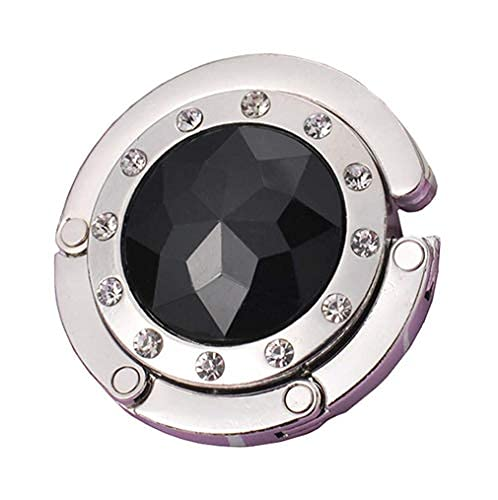 Plegable Rhinestone monedero gancho diamante artificial bolso titular plegable mesa suspensión cristal...