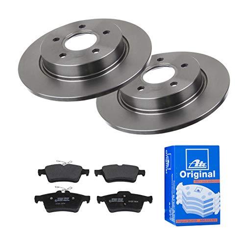 2 Bremsscheiben Voll 271 mm + Bremsbeläge Hinten von ATE (1420-23083) Bremsensatz Bremsanlage Bremsen-Kit,Bremsenset, Bremsscheiben, Bremsbeläge, Bremsen-Set, Beläge, Bremsbelag, Bremsbelagsatz,