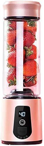 YXZQ Exprimidor, Licuadora, Licuadora Batidora Exprimidora de Mano Eléctrica, Licuadora Multipropósito para Frutas, Batido de Leche, Seis Cuchillas en 3D para una Mezcla Magnífica, 450 ml
