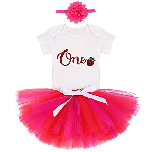 Disfraz de tutú para recién nacido, de manga corta, con falda de tul + diadema para Halloween, calabaza, Navidad, pastel de Navidad, hot pink, 12 meses