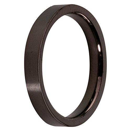Melano Ring / Vorsteckring / Beisteckring Edelstahl schwarz beschichtet, glänzend M01R 4993 (62 (19.7))