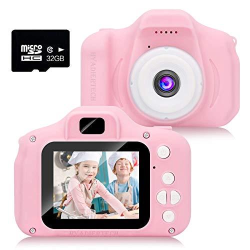 HyAdierTech Fotocamera Bambini,Macchina Fotografica per Bambini con Scheda SD 32 GB, Bambini Portatile Digitale Portatile Digital Camera Kids Videocamera Regalo di Compleanno per Bambini