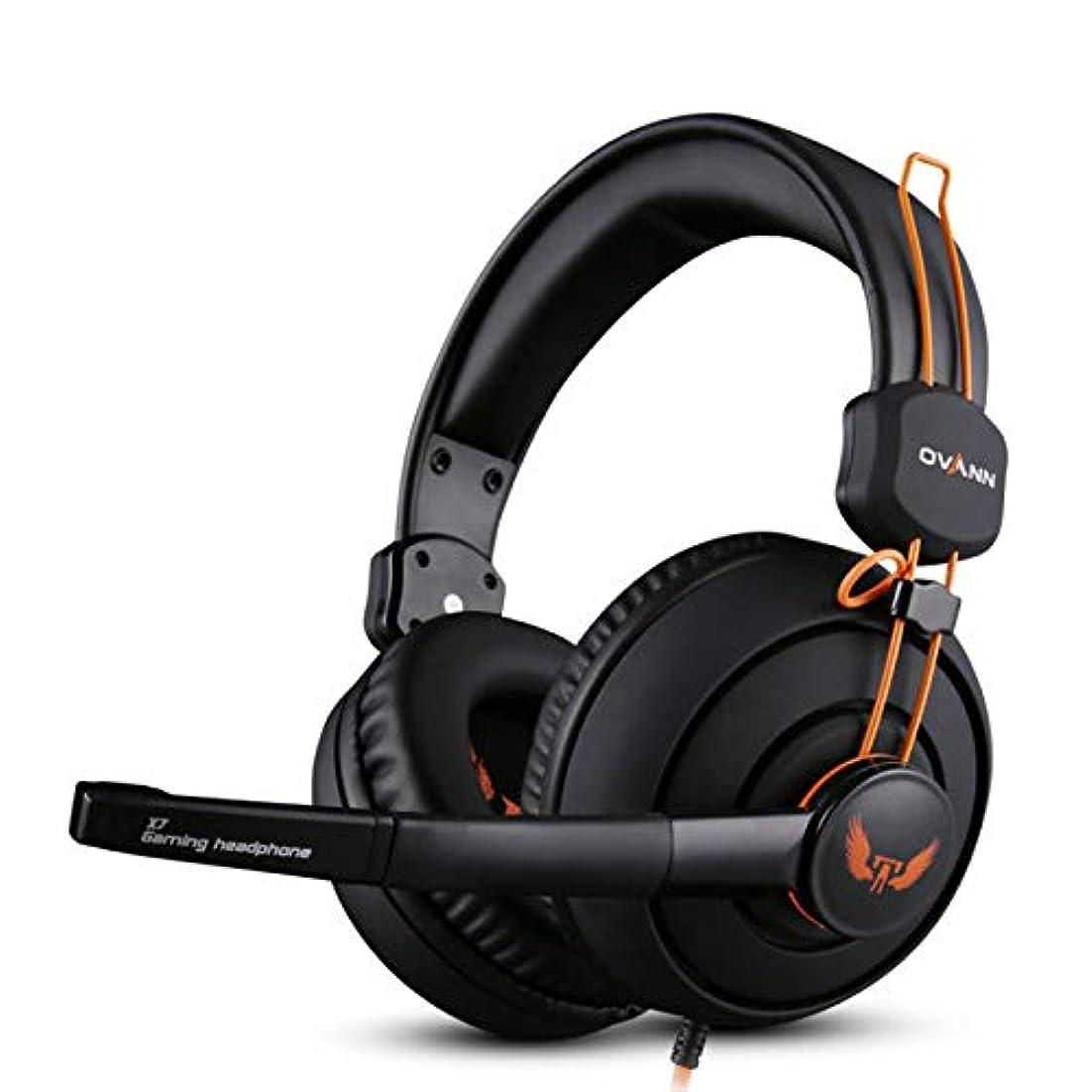 暖炉名誉ある共感するElectrost ゲーム用ヘッドセットノイズキャンセリングマイクサラウンドステレオサウンド3.5mm有線ヘッドフォン(PC、Xbox One、PS4、Nnintedoスイッチ用) (色 : 黒)
