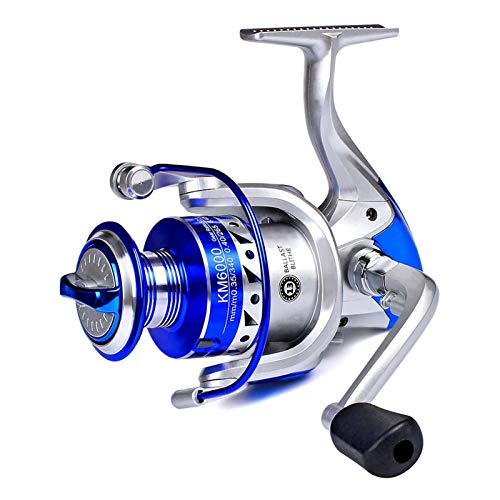 AFANGMQ Carrete de Pesca Metal Spool 13BB Reel de Spinning 5.2: 1 1 Serie de Pesca de Carpa de Alta Velocidad 1000 Series a 6000 Series (Spool Capacity : 4000 Series)