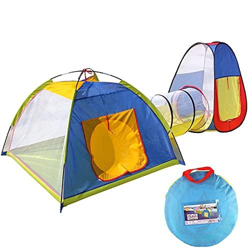 PrittUHU Piscina de Bola de Escalada Interior y al Aire Libre para niños Tienda Tube de Tres Piezas Tienda Grande Bebé Playpen Niños Regalo de cumpleaños (Color : C)