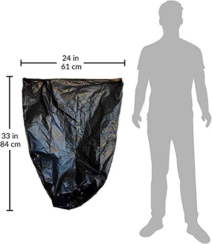 Reli. 6-10 Gallon Trash Bags, Black (1000 Count, Bulk) Black 10 Gallon Garbage Bags with 6 Gal, 7 Gallon, 8 Gallon Capacity - Black Trash Liners 10 Gallon in Bulk Florida
