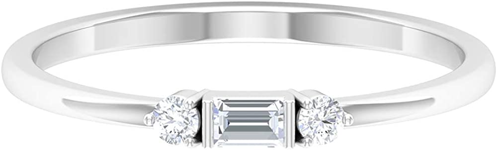 Dainty Diamond Promise Rings for Women (AAA Quality), 14K Gold