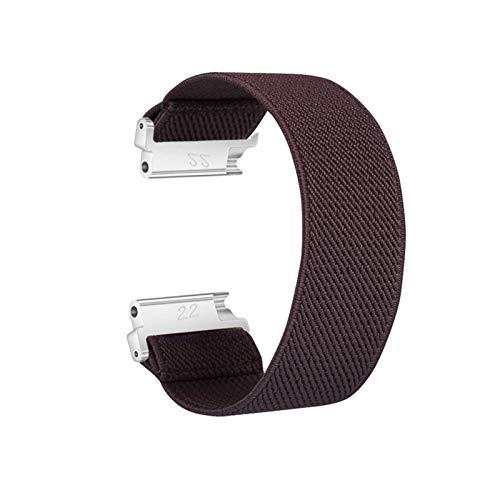 ZLRFCOK Correa de nailon elástico para reloj Samsung Galaxy Watch Active2 de 18 mm, 20 mm, 22 mm, nailon colorido para pulsera de reloj Huawei (color de la correa: marrón, ancho de la correa: 22 mm)