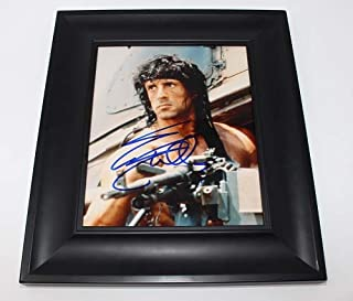 First Blood Rambo Sylvester Stallone Signed Autographed 8x10 Glossy Photo Gallery Framed Loa