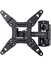 Full Motion TV Wall Mount Articulating Bracket for 13-42 Inch LED LCD OLED Flat Curved Screens, Swivel Tilt Extension Rotation TV Mount Monitor Max VESA 200x200mm up to 44lbs by ERGO-INNOVATE