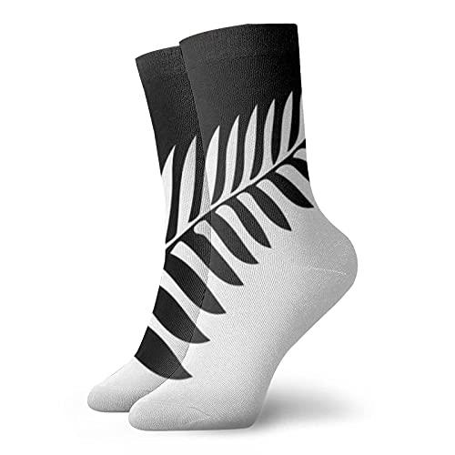 AOOEDM Silver Fern Of New Zealand Agc - Calcetines deportivos de compresión cortos, novedosos, cálidos, para correr para mujeres y hombres, 11.8 pulgadas (30 cm)