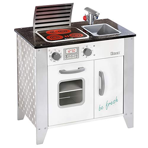 Howa Spielküche Kinderküche be Fresh aus Holz mit LED-Kochfeld 4822