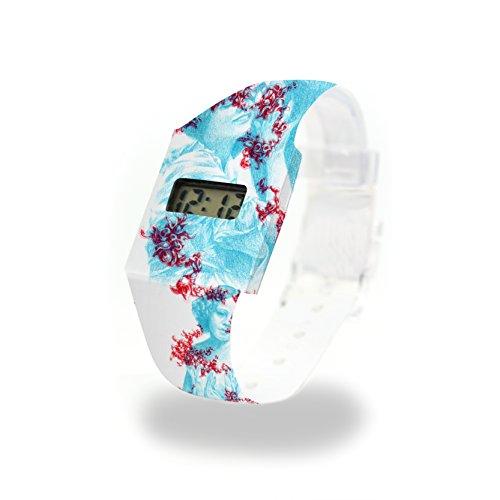 SPECTRE - Pappwatch - Paperwatch - Digitale Armbanduhr im trendigen Design - aus absolut reissfestem und wasserabweisenden Tyvek® - Made in Germany , absolut reißfest und wasserabweisend