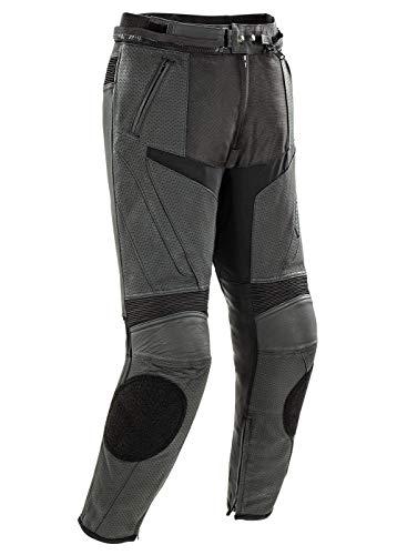 Joe Rocket Stealth Sport Herren Motorradhose aus Leder, perforiert, Schwarz, Größe 38