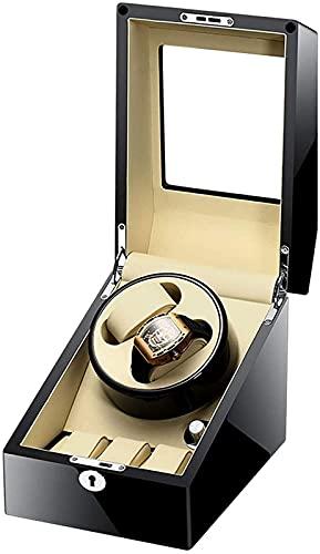 YUNLILI Relojes automáticos Rinder Cajas con 2 + 3 Ranura, Motor silencioso, Relojes Mostrar Caja para Hombres y Mujeres Regalo, Adaptador de CA y batería (Color : A)