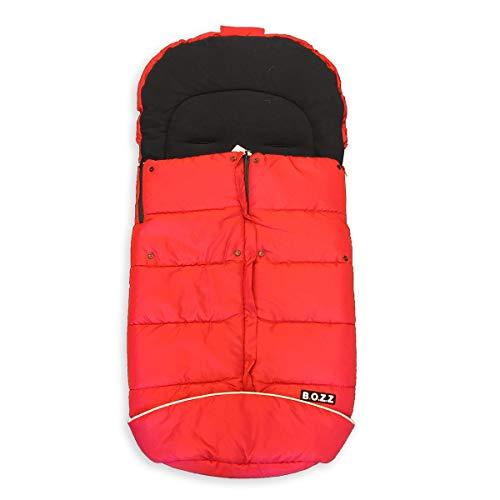 Bozz Artic Flexi Rood Universeel Extra Lange Dikke Fleece Voetenbank/Cosytoes/Cosybag die past bij alle kinderwagens, kinderstoelen en reissystemen