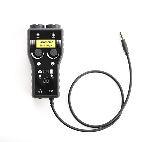 Saramonic SmartRig+ 2-Channel XLR/3.5mm Karaoke Microphone Audio Mixer...