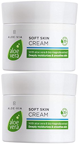 LR ALOE VIA Aloe Vera Zarte Hautcreme Soft Skin Cream (2x 100 ml)