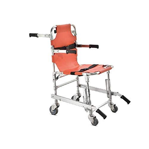 H&1 Silla de Ruedas eléctrica Silla de Ambulancia Plegable Silla Ligera de aleación de Aluminio Transferencia Segura y rápida de evacuación escaleras Arriba y Abajo