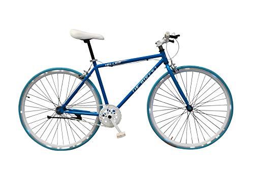 Helliot Bikes Fixie Soho H11, Bicicletta Singola velocit Unisex-Adulto, Arancione, Standard