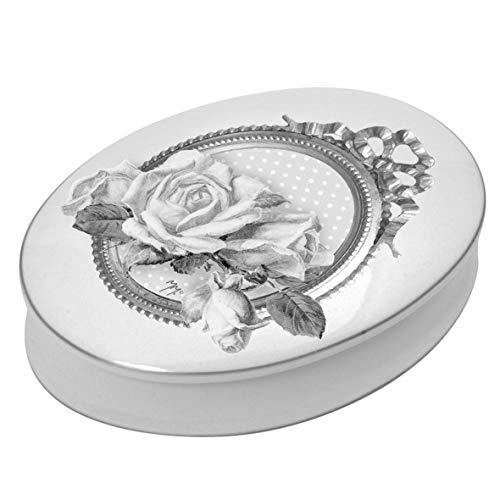 Mathilde M. Schmuckdose Dose oval 'Roses' Keramik Bad Nostalgie Landhaus Shabby French