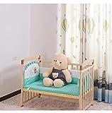 JYXZ Multifuncional Madera Maciza Cama Cuna para bebé niños Pine Splicing Cama...