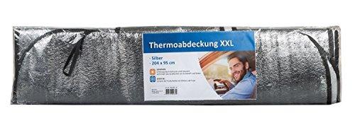 Idena 10040033 auto voorruit thermische afdekking, voor zomer en winter, XXL, 204 x 95 cm
