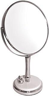 Rucci Classic Porcelain Dove Base Chrome 7X/1X Table Top Vanity Mirror