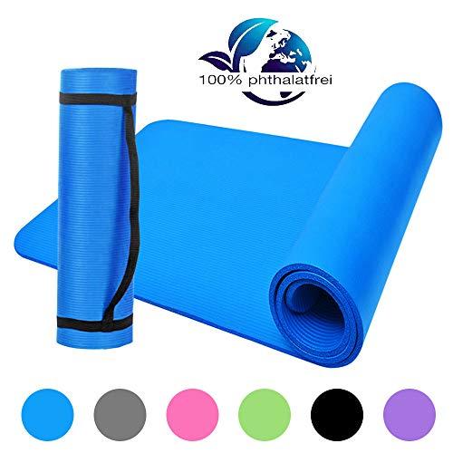 Lixada Gymnastikmatte NBR Yogamatte Geschlossenzellige Schaumkörper Yogamatte Trainingsmatte 183 * 61 * 1cm