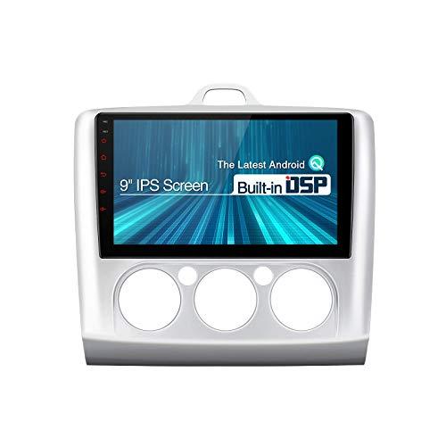 Radio de coche Android para Ford Focus II MK2 Mondeo, Android 10 Estéreo para coche Bluetooth 9 pulgadas Unidad principal de pantalla IPS DSP integrado Admite navegación GPS con salida RCA completa 1