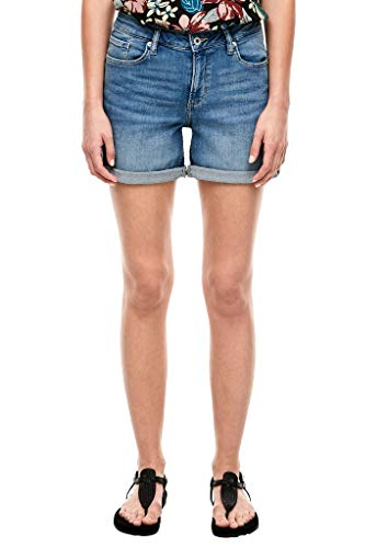 Q/S designed by - s.Oliver Damen Regular Fit: Shorts aus Jeans medium blue 36