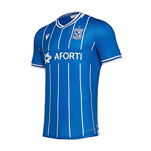 Macron 2019-2020 Lech Poznan Authentic Home Football Soccer T-Shirt Jersey