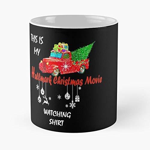 Desconocido Christmas Holiday Channel Hallmark Movies Taza de café con Leche 11 oz