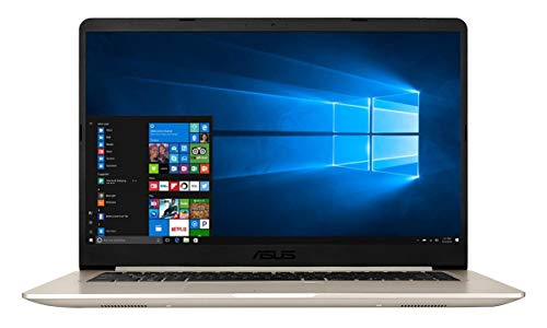 Asus Vivobook S510UN-BQ134T Notebook con Monitor 15.6', Intel Core Core I7-8550U, RAM 16 GB, SSD 256 GB, Gold Metal