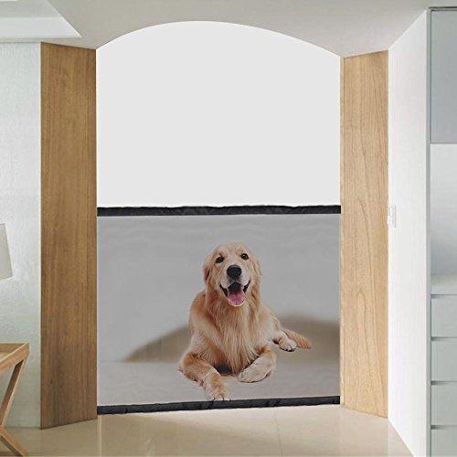 Beimaiji Trade - Puerta de Seguridad para Mascotas, portátil, aislada, para Valla...