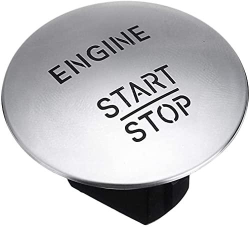 XuetongXT Piezas de automóvil Botón de Encendido del Interruptor del Interruptor de STOT STOT One-Keyle Tecny Start Start Push Switch Switch Silver/Red para Merc & Edesbe & NZ Piezas de automóvil