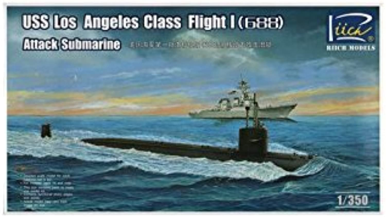 Riich Models RN28005  Model Kit Attack Submarine USS Los Angeles Class Flight 688 Atta