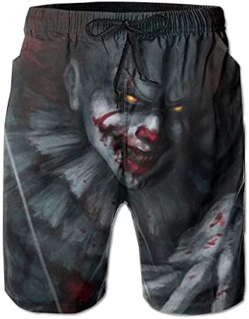 Muindancer Men s Swim Trunks Pennywise Beach Board Shorts with Lining product image