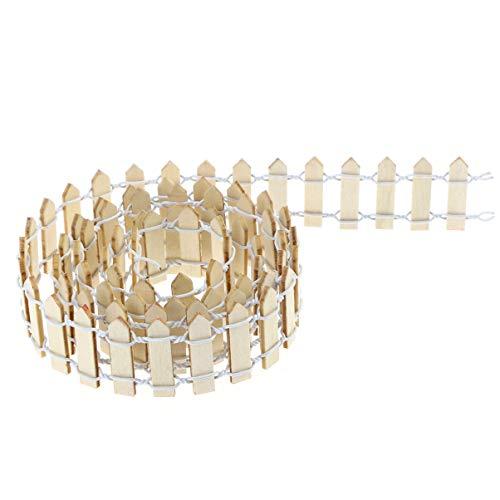 Homoyo - Cercado de jardín de hadas en miniatura para accesorios de jardín de hadas