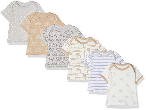 Care 550228 Camiseta, Gris (Harbor Mist 190), 86, Pack de 6
