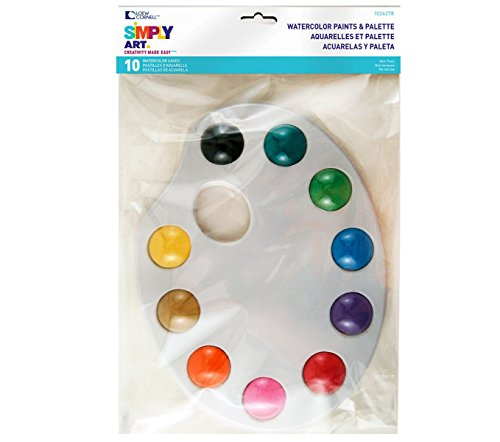 Loew-Cornell Simply Art Watercolor Cakes with Palette