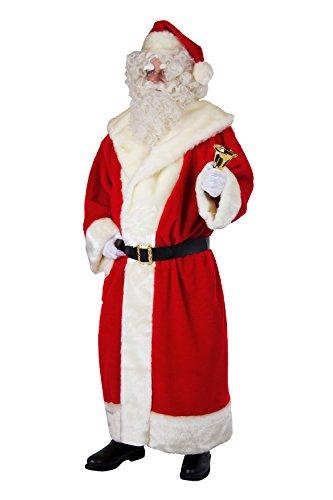 Herren Kostüm Weihnachtsmann Mantel aus Plüsch Mütze Gürtel