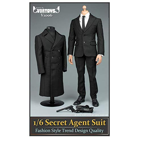 SZDM 1/6 VORTOYS V1006 Agent Anzug Mantel Set James Bond 007 Für HT VERYCOOL TTL Hottoy Phicen