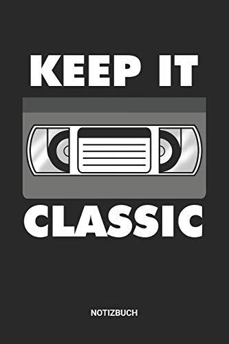 Notizbuch: A5 Notizheft mit punktierten Linien für einen Vintage Retro VHS Tape Fan? Ideales Videokassette Journal oder Notizbuch. Perfektes Tagebuch ... Liebhaber. Geschenkidee für Männer und Frauen
