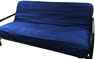 OctoRose Full Size Royal Zipper Bonded Classic Soft Micro Suede Futon Cover (Cover Only, Mattress and Frame DO NOT Included) (RoyalBlue)