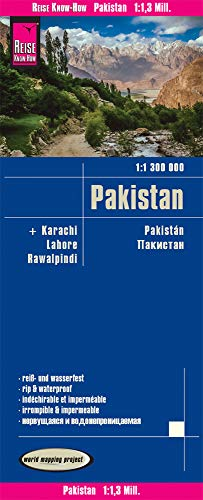 Reise Know-How Landkarte Pakistan (1:1.300.000): world mapping project