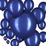 100 Pieces Latex Balloons 18 Inch 12 Inch 10 Inch 5 Inch Party Balloons for Halloween Christmas Thanksgiving Baby Shower Wedding Birthday Bride Balloon Party Decorations (Navy Blue)